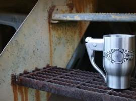 Robuuste koffiemok met een snufje racefiets