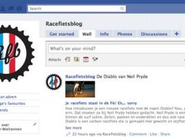 Racefietsblog nu ook op Facebook en Twitter