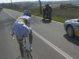 Irritatie op de fiets bij Cipollini; video