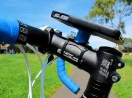 Mooie iPhone 4 houder voor je racefiets van Quad Lock