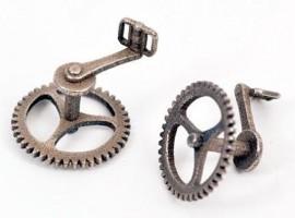 """Voor de """"Gentleman"""" die ook van fietsen houdt; fiets-manchetknopen"""