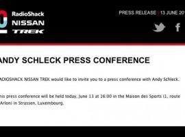 Gaat Andy Schleck de Tour missen door…