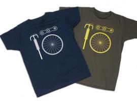 Bicycle Basics t-shirt: retro stijl basics op je tshirt