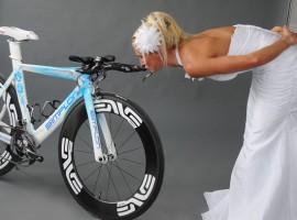 Triatleet Yvonne van Vlerken met haar Simplon MR T fiets, een mooi huwelijk