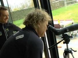 Ruud Benard masseert Karsten Kroon – portret door Flavio