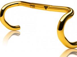 Gouden racefietsstuur met bijpassende zadelpen voor maar 1410 euro