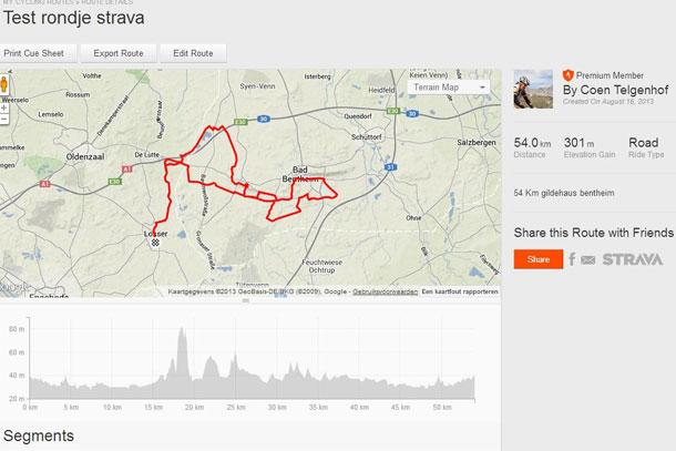 zelf fietsroute plannen