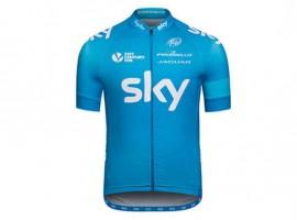 Team Sky 2014 shirt van Rapha in Blauw