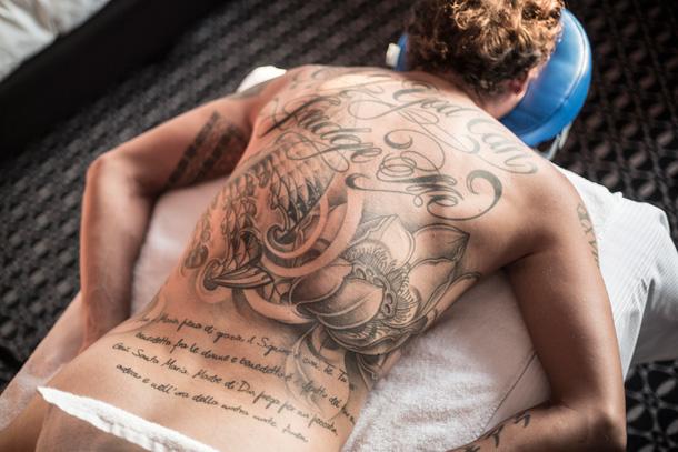 tattoos Maagd aan het lapdancen