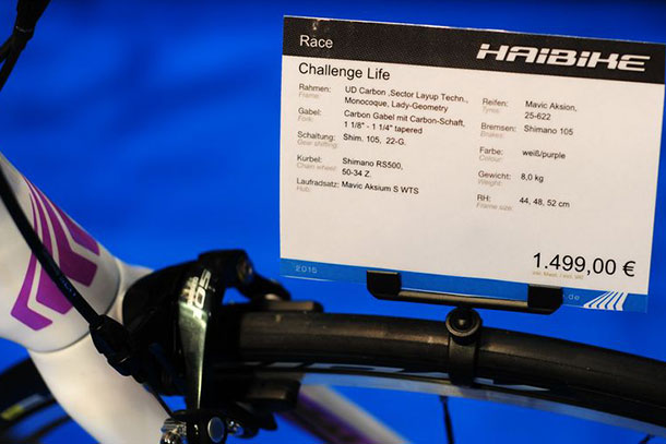 Most awkward name for a bike ever?  at Bikemotion 2014 | Racefietsblog.nl