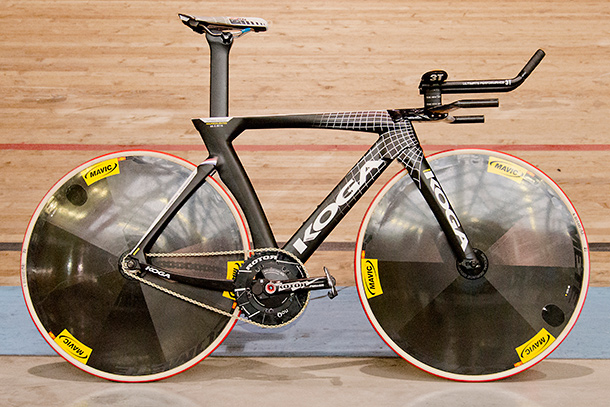 Koga Teeteetrack that Thomas Dekker will use during his attempt to break the hourrecord | Racefietsblog.nl