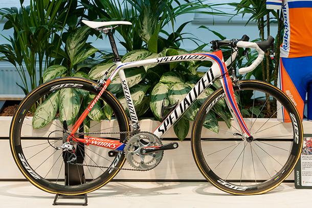 Karstern Kroon's Worldcup bike. Backstage at Specialized EU HQ  |  Racefietsblog.nl
