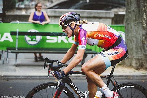 Boel Dolman's Ellen van Dijk giving it all during La Course, as always | Photo by Breakthrough Media