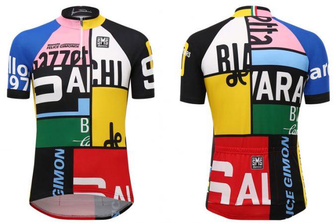 Opvallende wielershirts van Santini