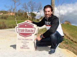 Cancellara vereeuwigd langs de witte wegen van de Strade Bianche
