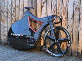 Pluma prototype baanfiets met volledig omsloten achterwiel