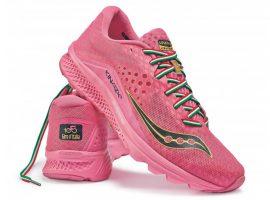 Roze Saucony gympen met Giro d'Italia thema