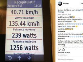 Kevin Reza met 135,44 km/u naar beneden in Ronde van Zwitserland