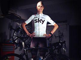 Team Sky in het wit tijdens de Tour de France 2017