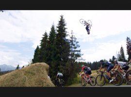 Een backflip kan ook met een racefiets – video