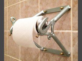 Radgestalt is handig met staal en maakt wc-rolhouder
