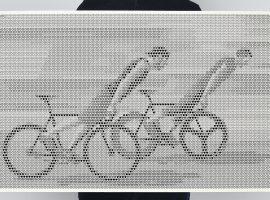 Weer een mooie fietsprint met heel veel details van 100copies: Just Skidding