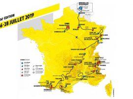 De route van de Tour de France 2019