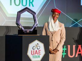 Een trofee van 24K goud en de leiderstruien in de UAE Tour