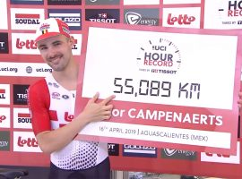 Victor Campenaerts pakt het werelduurrecord!