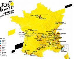 De route van de Tour de France van 2020