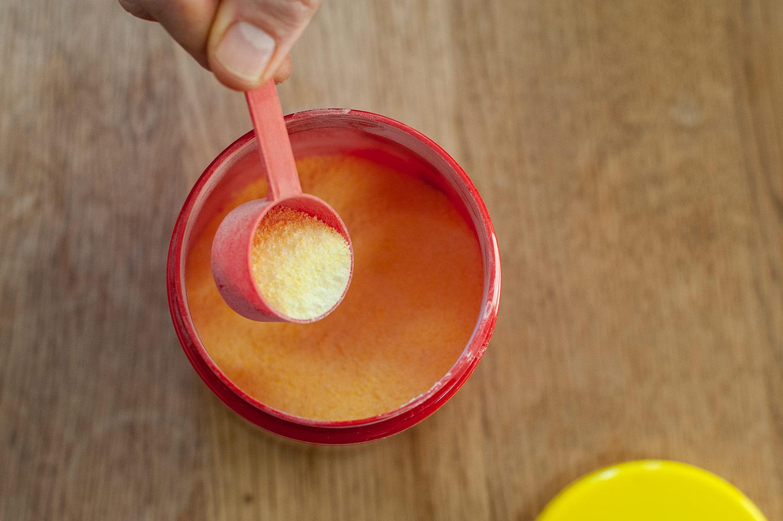 Enervit isotonic drink verpakking geopend
