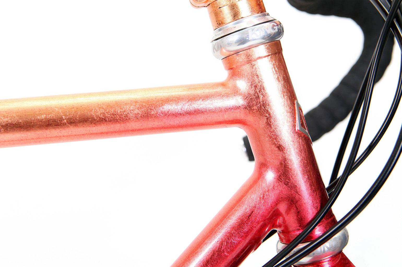 Hartley Copper Lead road bike headtube detail