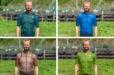 Eerste indruk: vier Sportful wielershirts naast elkaar