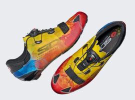 De Sidi Sixty Multicolor Limited Edition fietsschoenen, een explosie van kleur
