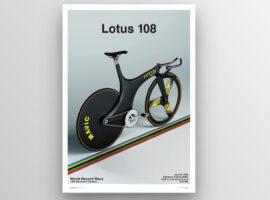Veloprints brengt de Lotus 108 fiets tot leven op papier